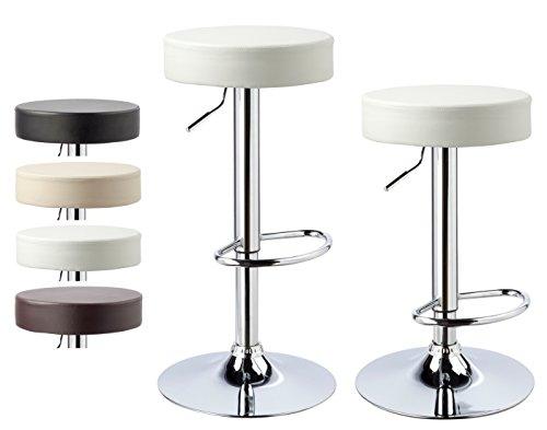 Kronenburg 2 x Barhocker Classic Weiß – Farbwahl vier Farben - 3