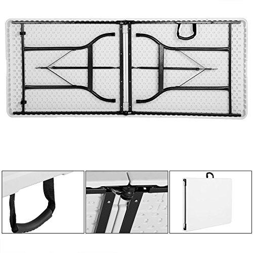 Tisch klappbar Kunststoff weiß 76×182 cm Partytisch Buffettisch Klapptisch - 3