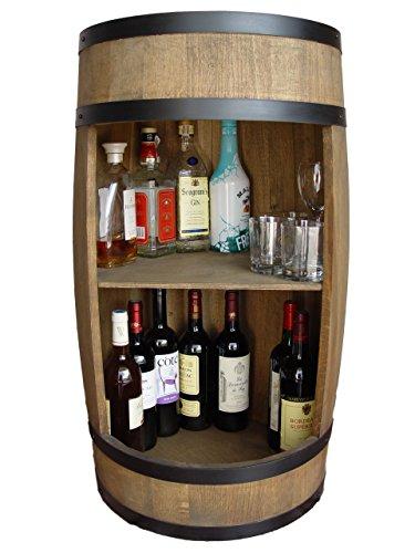 Stilvolle Minibar Fassbar HOLZ Exklusive Fass Bar mit Regal /81cm