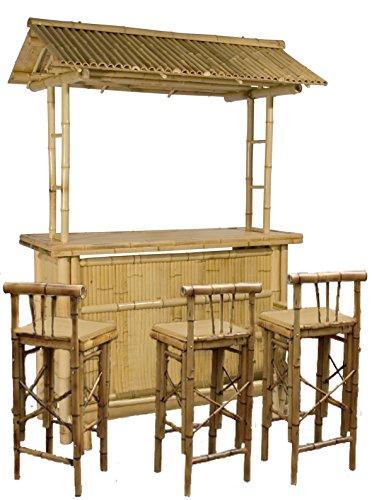 Barhocker Outdoor ᐅ 4tlg bar rivas bambus theke tresen barhocker outdoor die