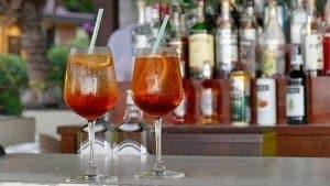 Getränke an der Hausbar